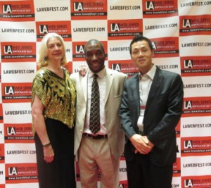 with LAWebfest founder Michael Ajakwe and Young Man Kang, founder of K-Fest in Seoul