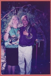 Pamela Jaye, Robert, and the live python.